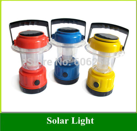 20pcs 9LED Solar Camping Lights Adjustable Brightness Lantern Light twin Solar Panels Camp Emergency Lights