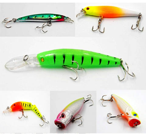free shipping for 24 Colors For Choose Fishing lure Minnow Crankbait Pencil lures wobbler pesca artificial swivels hard bait Swimbait tackle