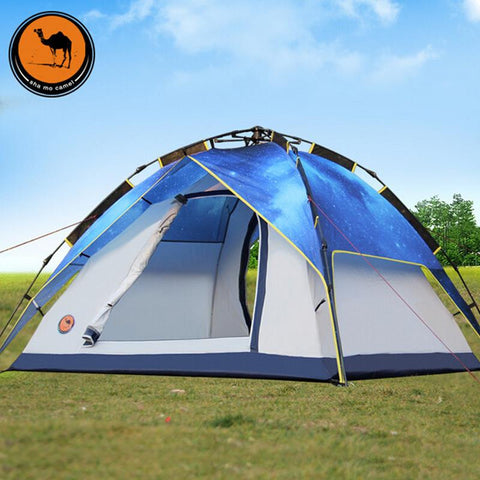 3-4 automatic double camping outdoor tent twin stars more than camping tents