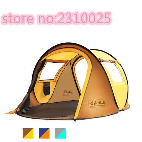 3-4 full automatic outdoor tent BHP 1 open free of Building 2 people camping family rain suit
