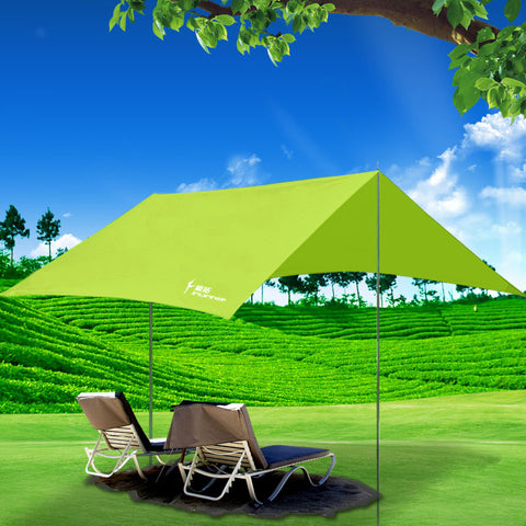 300*295 CM Outdoor Beach Tent Ultra-large Ultralight Camping Sun Shelter gazebo Rain shed pergola Large Shade Protection Tents
