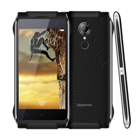 4.7Inch HOMTOM HT20 Android 6.0 MTK6737 Quad Core 8.0MP Cellphone 2G RAM 16G ROM Waterproof IP68 Fingerprint 4G LTE MobilePhone