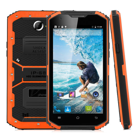 "5.5"" HD NO.1 Vphone X3 Cellphone Android 5.1 4G LTE 2G RAM 16G ROM IP67 Waterproof Shockproof Mobile Phone 13M Camera 4500mAh"