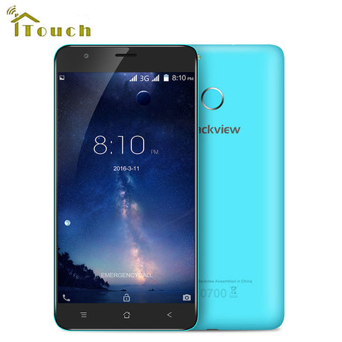 5.5 inch Blackview E7S Smartphone MT6580 Quad Core 16GB ROM 1280x720 Mobile Phone Android 6.0 Fingerprint 8.0MP Unlocked Phone