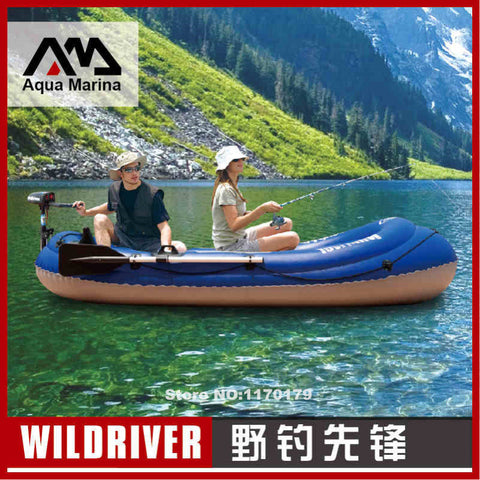 Aqua Marina WILDRIVER river  fishing boat inflatable kayak canoe, 2+1 presons,paddles, air pump,optional T-18 electric-motor