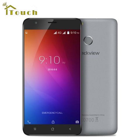 Blackview E7S Mobile Phone 5.5 inch 1280x720 IPS HD MTK6580A Quad Core Android 6.0 2GB RAM 16GB ROM 8MP CAM 3G WCDMA Fingerprint