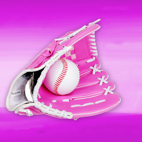 Children  Pink Baseball Gloves 10.5inch Baseball Gloves with Good Quality Baseball Children Creative Gift Baseball Gloves
