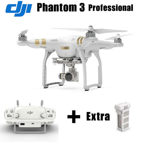 DJI Phantom 3 Professional Version RC Helicopter Drone With 4K Camera RC Quadcopter with Extra Battery RTF Free EMS Shpping