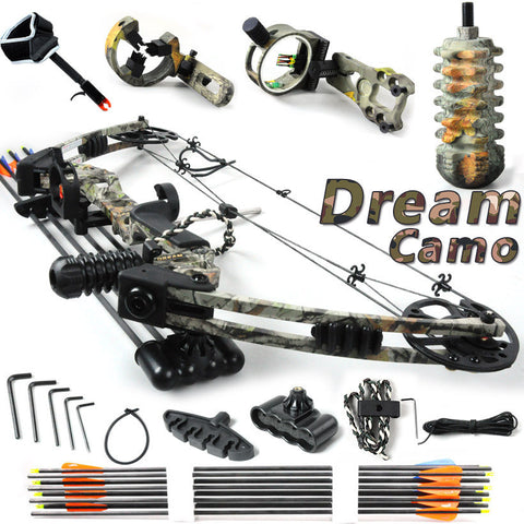Dream,Camo,20-70lbs adjustable,Black and Camouflage,hunting compound bow, bow and arrow,China Archery set