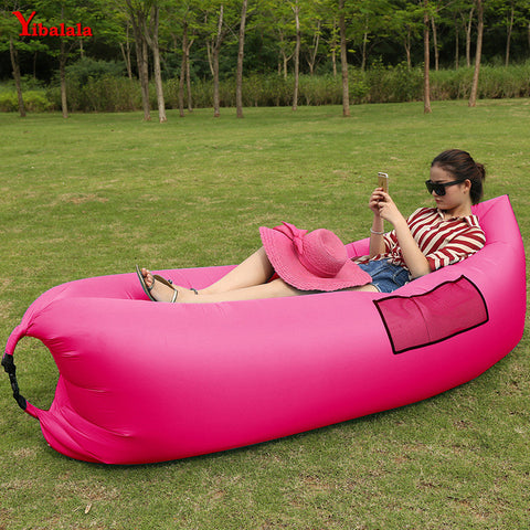 Fast Inflatable Sleeping Bags Air bags beast hangout lazy bag  Air Sleep Camping Bed  Beach  Air Sofa laybag with side pockets