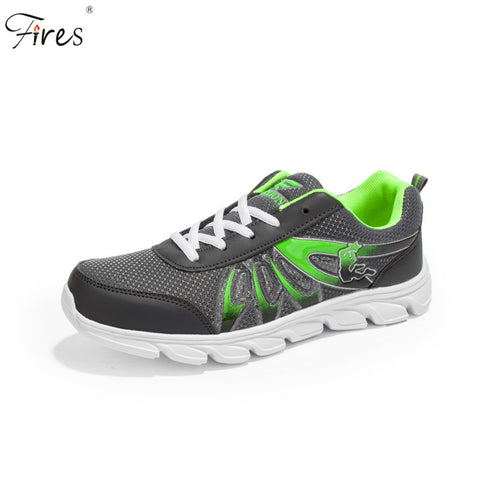 Fires Mens Autumn Zapatillas Mesh Breathable Light Weight Cushioning Jogging Running Shoes Outdoor  FlatsSneakers Sport Shoes