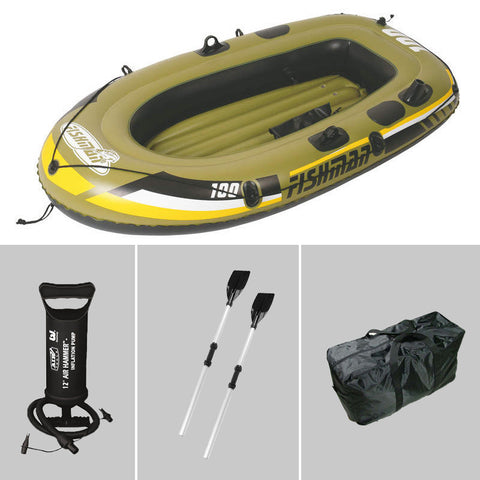 Fishman 1 Person fishing boat 185*98*28cm, inflatable boat,including repair patch, color box package