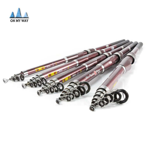 Hard Telescopic Fishing Rod 2.1M-3.6M  Sea Rod Portable Spinning Fishing Rod Pole Travel Sea Boat fishing