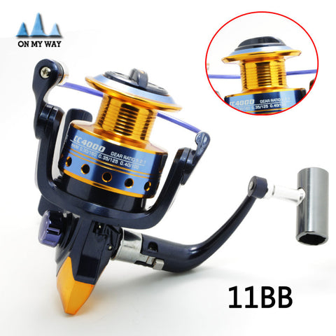 High Quality  Super Technology Fishing Reel 11BB Bearing Balls 1000-6000 Series Spinning Reel Boat Rock Fishing Wheel Coil