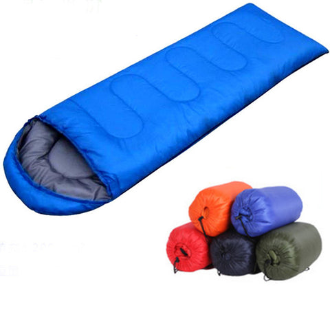 High quality outdoor camping sleeping bag for spring & autumn summer adult envelope hooded cotton sleep bag (180+30 ) * 75cm