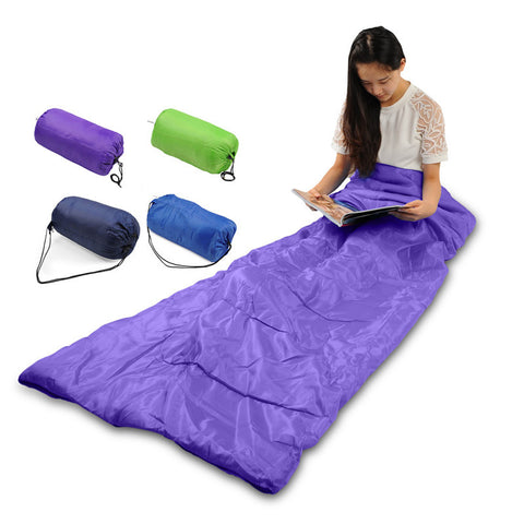 HimanJie Multifuntion Outdoor Camping Hiking Garden Thermal Sleeping Bag Winter Envelope Sleeping Bags Travel Sleep Bag 4 Colors