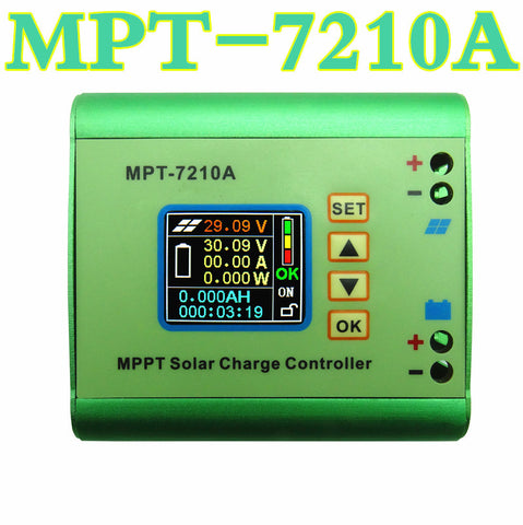MPT-7210A  MPPT DC-DC Step-Up Power  Solar Regulator Charge Controller for 24V 36V 48V  72V Battery  Solar Panel  50% off