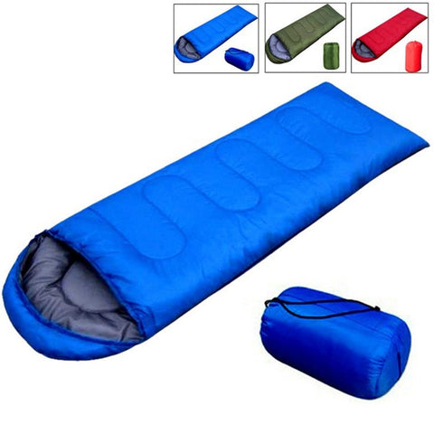 Outdoor Camping Adult Sleeping Bag Waterproof Sleeping Bag for Camping Travel Envelope Hooded Cotton Sleep Bag