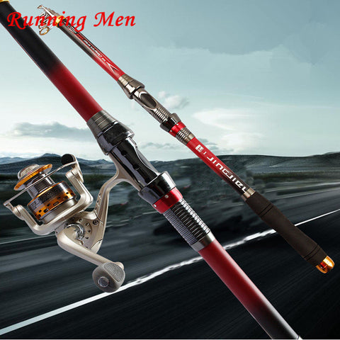 Free Shipping + $29.99 Sale Spinning Carbon Telescopic Fishing Rod All Metal Accessories2.1M-3.6M Saltwater Superhard Carbon Telescopic Spinning Fishing Rod