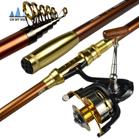 Free Shipping + $74.99 Sale Telescopic Carbon Fishing Rod 2.1/2.4/2.7/3.0/3.6M High Quality Carbon Fiber Carbon Spinning Sea Rod Fishing Tackle Tools