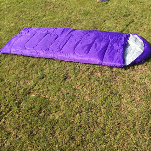 Thickening Winter Warm Outdoor Camping Sleeping Bag Envelope Waterproof Traveling Hiking Single Sleeping Bags   T15 0
