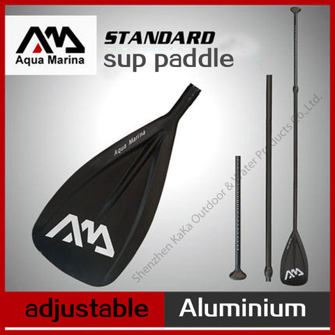 black AQUA MARINA alumnium SUP paddle for stand up paddle board surfing board, 166-212cm  T handle oar