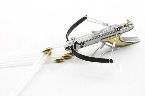 mini crossbow Hunting bow arrow Have fun shooting stuff Stainless Powerful Slingshot Toy Model archery free shipping