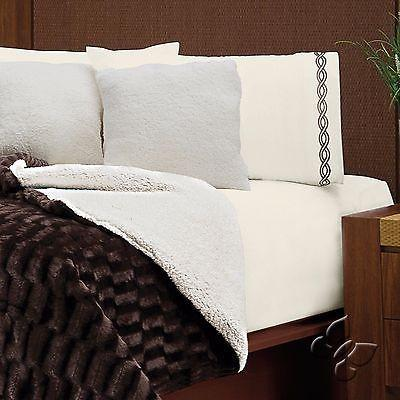 queen on comforter shop brown taupe windsor piece tan home sherpa polyester deal set amazing solid fleece king twin color