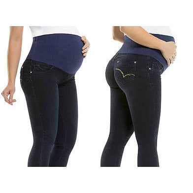 Maternity Colombian Butt LIFT PUSH UP Stretch Slim Shaper Jeans Levanta Cola-Jeans-Virtual Sensuality-01-LAPG