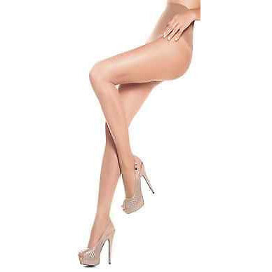 Women Anti Varicose Veins Gradual Compression Pantyhose 15-20 mmHg Antivarices-Pantyhose & Tights-Virtual Sensuality-Beige-Small-LAPG