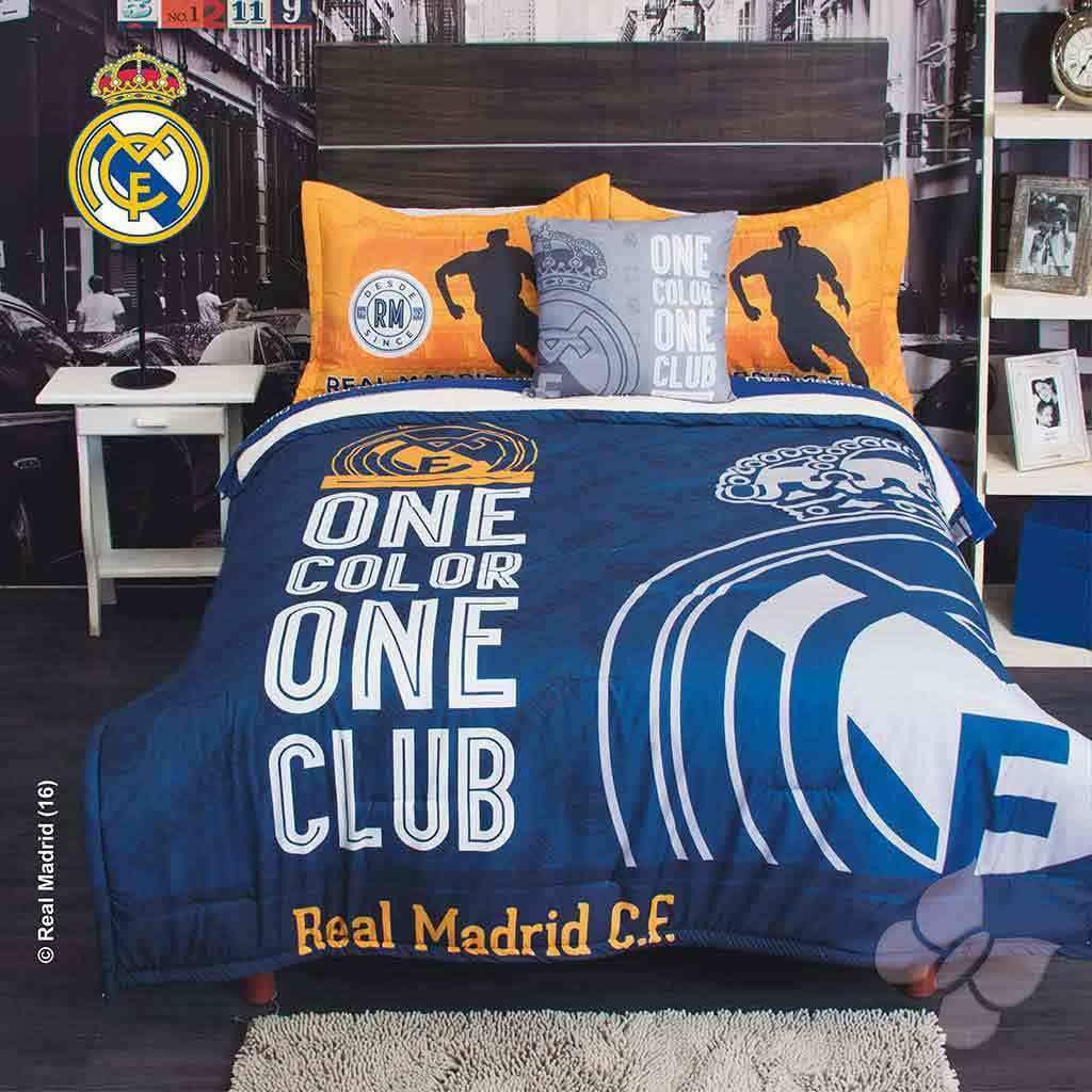 ordinary Soccer Comforter Full Part - 20: Club Real Madrid Futbol Soccer Comforter with Shams -No Sheets Bedding Sets  Intima Hogar-
