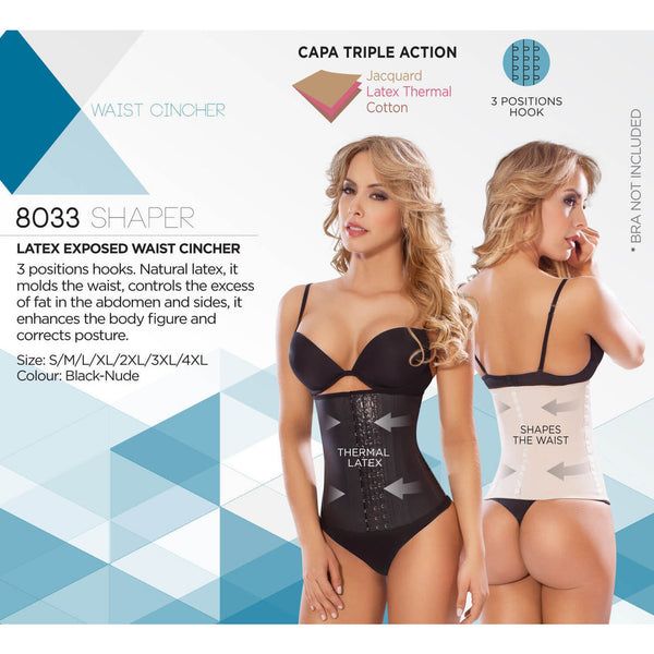 a7ec4e17f15 ... Moldeate 8033 Body Shaper Thermal Latex Waist Cincher Trainer Abs  Workout Belt Shapewear Moldeate- LAPG ...