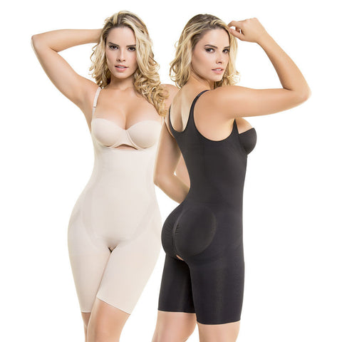 VS 1585 Thermal Seamless Body Shaper Slimming Lose Waist Inches Bust & Butt Lift Shapewear Virtual Sensuality Fajate- LAPG