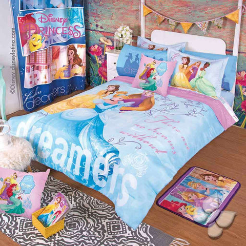 Disney Princess Classic Birthday Girl's Bedroom Bedding Comforter and Sheet Set-Bedding Sets-Intima Hogar-Twin-LAPG