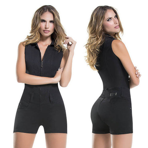 VIRTUAL SENSUALITY Colombian Push Up Romper Butt Lift Bodysuit, Amari