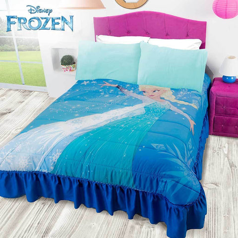 Disney Frozen Snow Queen Elsa Bedspread / Colcha (SHEET SET SOLD SEPARATE) 2019 Bedding Sets Intima Hogar- LAPG