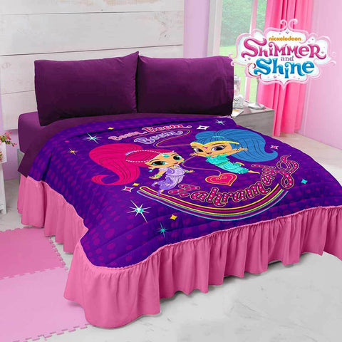 Nickelodeon Shimmer and Shine Bedspread (Sheet Set Separate) 2019 Bedding Sets Intima Hogar- LAPG
