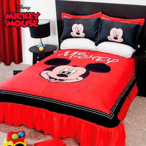 Disney Mickey Mouse Bedspread & Shams (SHEET SET SOLD SEPARATE) 2019 Bedding Sets Intima Hogar- LAPG