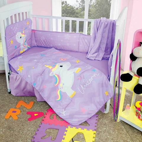 Unicorn Crib & Nursery Set - Baby Girl's Bedroom 2019 Nursery Bedding Sets Intima Hogar- LAPG