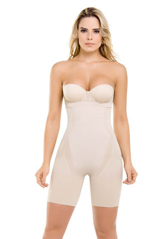 VS 1588 - Seamless Strapless Thermal Full Body Shaper - Slimming Bodysuit - Breast & Butt Lift - Seamless Shapewear Virtual Sensuality Fajate- LAPG