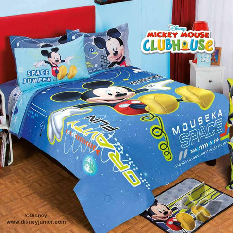 Disney Mickey Mouse Space Comforter with Shams -Add Sheet Set