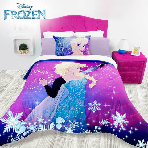 Disney Frozen Queen Elsa  Comforter w/ Sherpa (Sheet Set Sold Separate) 2019 Bedding Sets Intima Hogar- LAPG