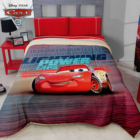 Disney Pixar Cars 3 Comforter with Sherpa (SHEET SET SOLD SEPARATE) 2019 Bedding Sets Intima Hogar- LAPG