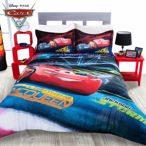 Disney Cars Reversible Comforter w/ Sham (SHEET SET SOLD SEPARATE) Bedding Sets Intima Hogar- LAPG