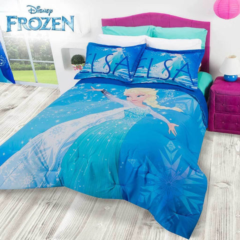 Disney Frozen Queen Elsa Comforter & Shams (SHEET SET SOLD SEPARATE) 2019 Bedding Sets Intima Hogar- LAPG