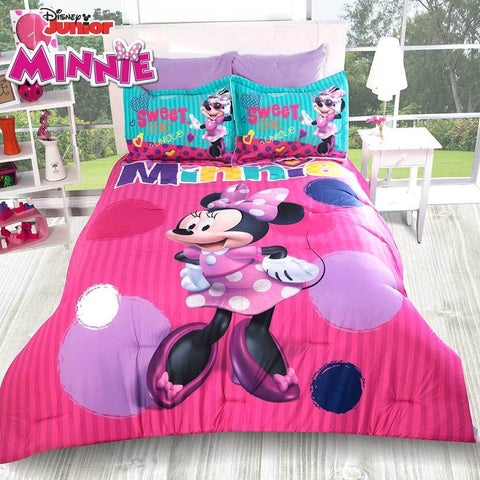 Disney Sweet Minnie Comforter w/ Shams (No Sheet Set) 2019 Bedding Sets Intima Hogar- LAPG