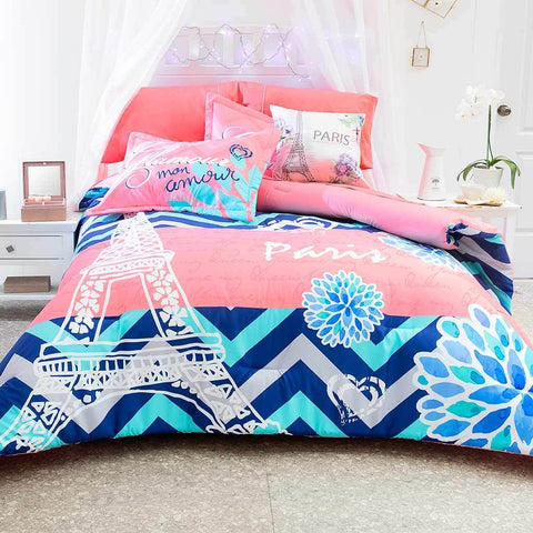Glam Paris Mon Amour - Comforter & Shams Set (Sheet Set Separate) 2019 Bedding Sets Intima Hogar- LAPG