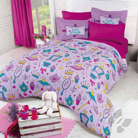 Purple Little Princess Aury Comforter Set and Add Sheet Set Girl's Bedroom Bedding Sets Intima Hogar- LAPG