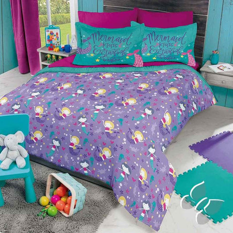 Purple Mermaid Comforter Set and Add Sheet Set Girl's Bedroom Bedding Sets Intima Hogar- LAPG
