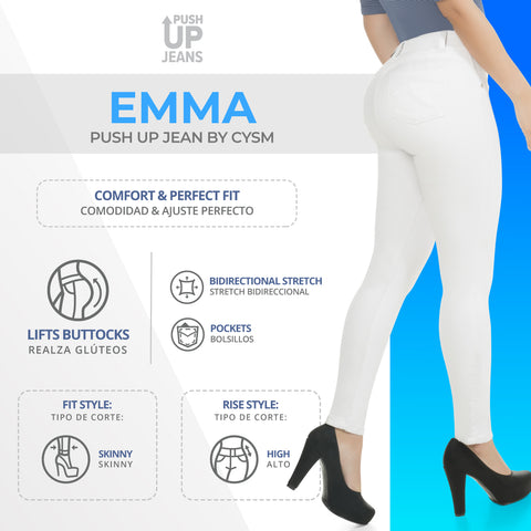 CYSM  Colombian Butt Lift Push Up Jeans Levanta Cola | Emma Jeans Virtual Sensuality- LAPG